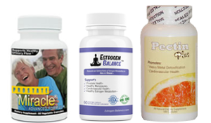 save money when you buy Prostate Miracle, Estrogen Balance and Pectin Plus together